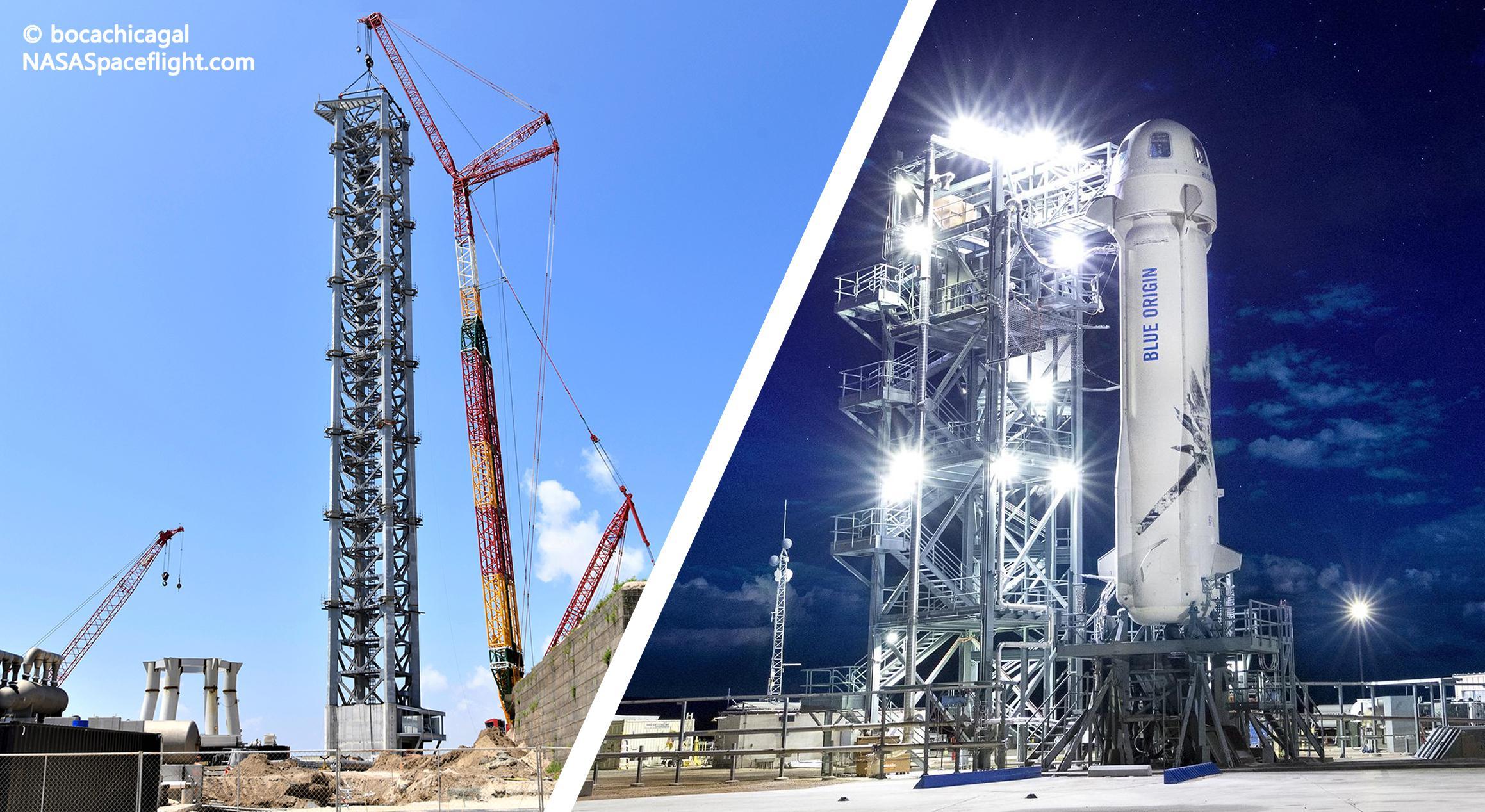 Blue Origin NS8 vs Starship tower stack #8 (Blue Origin & NSF – bocachicagal) 1 (c)