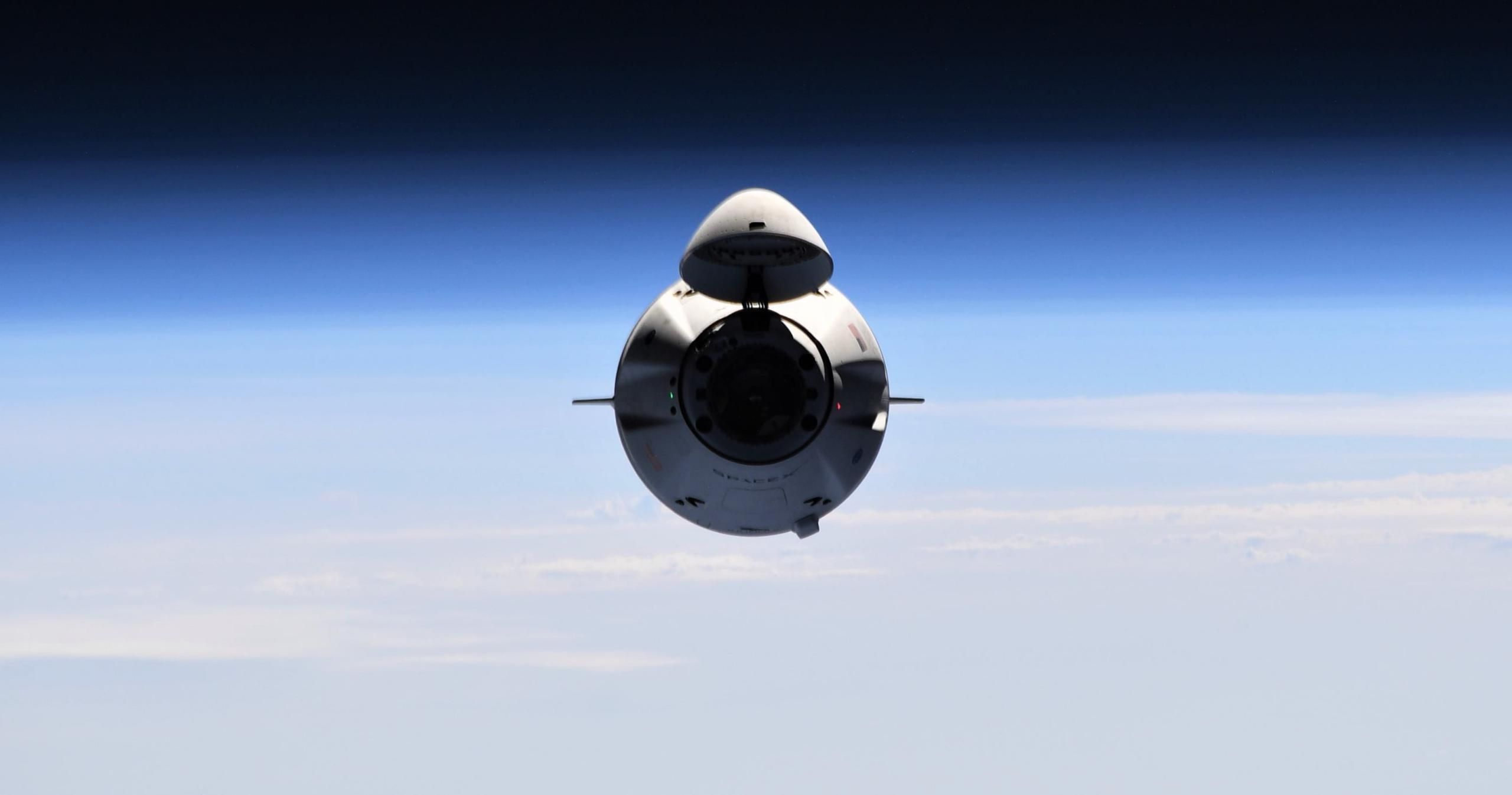 CRS-22 Cargo Dragon C209 ISS rendezvous 060521 (Thomas Pesquet – ESA) 6 crop 2 (c)