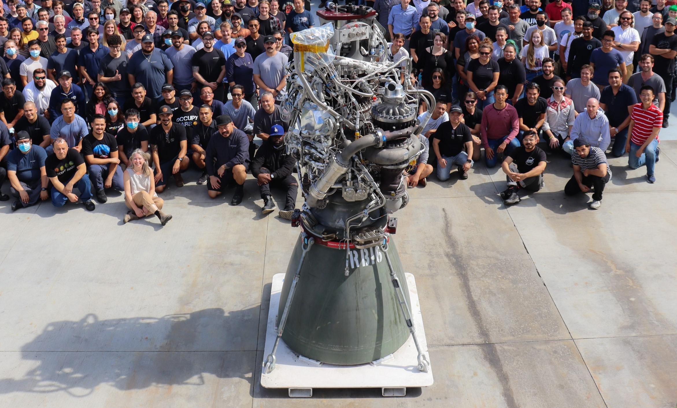 RB16 100th Raptor build Hawthorne 072621 (SpaceX) 1 crop 2 (c)