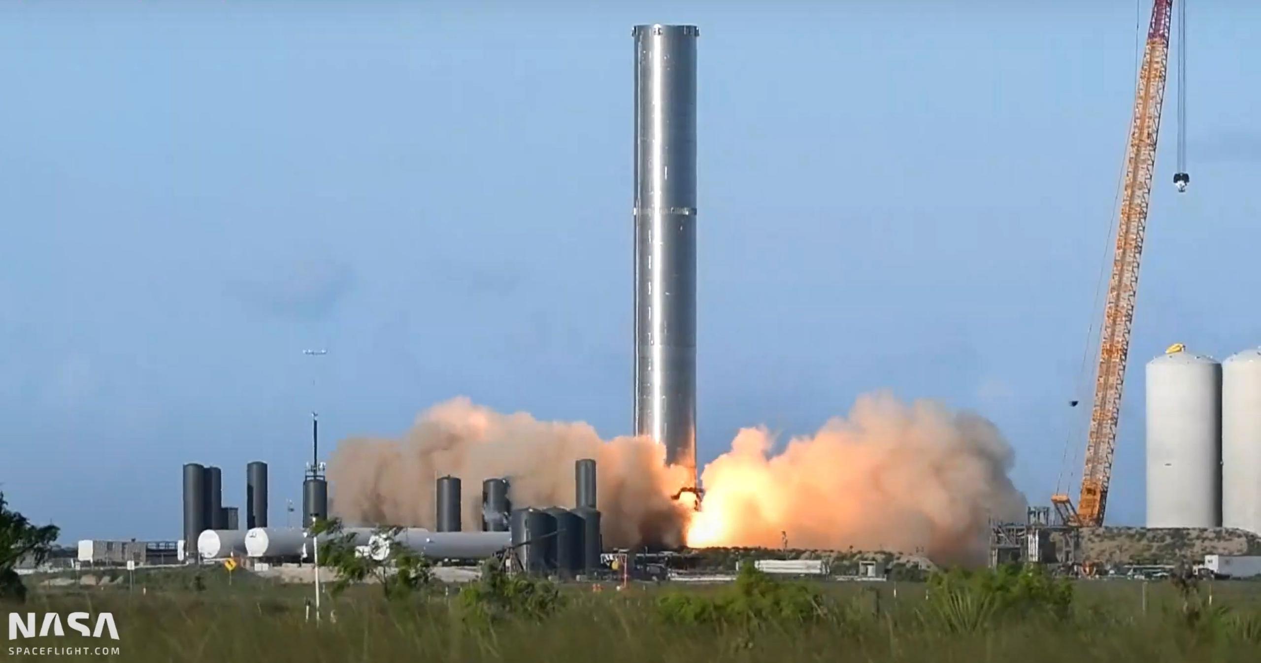 Starship Boca Chica 071921 (NASASpaceflight – bocachicagal) B3 static fire #1 2 (c)