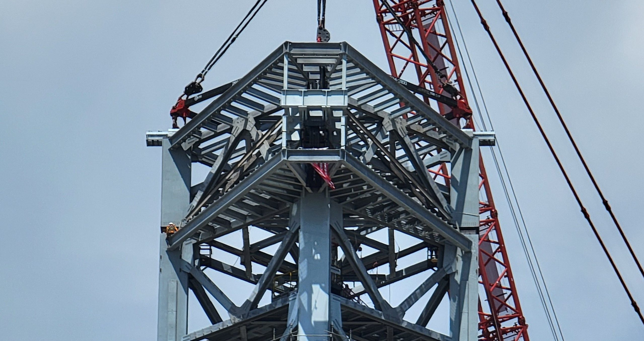 Starship Boca Chica 072821 (@StarshipGazer) orbital tower final stack 1 crop