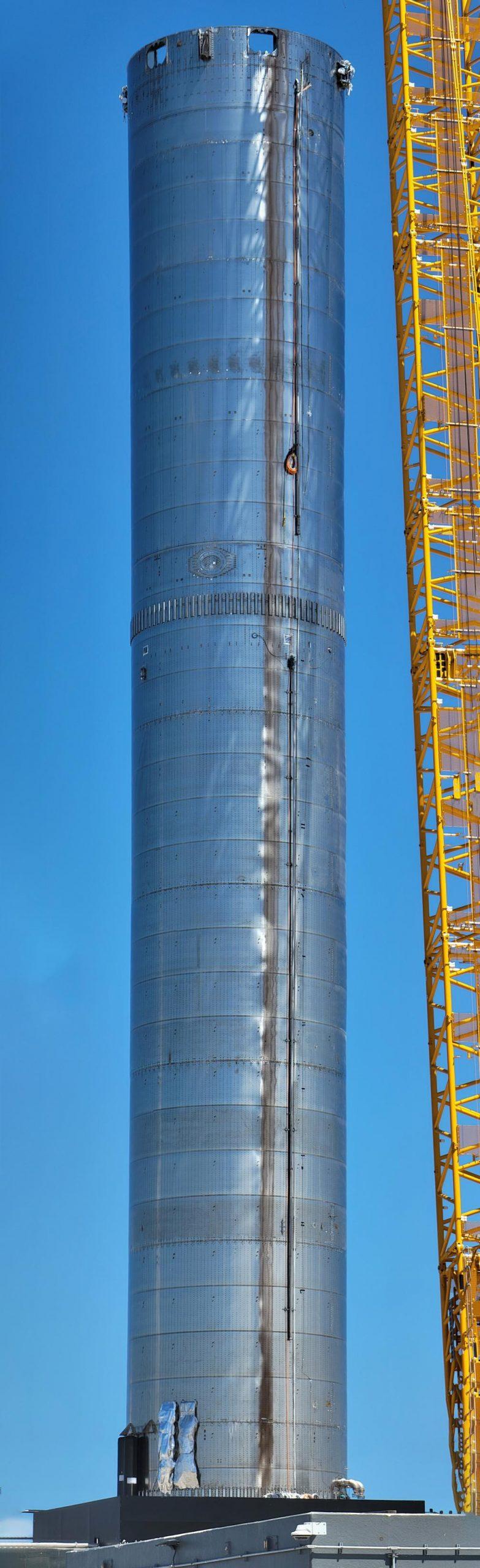 Super Heavy Booster 3 B3 pad installation 070121 (@StarshipGazer) panorama 1 (c)