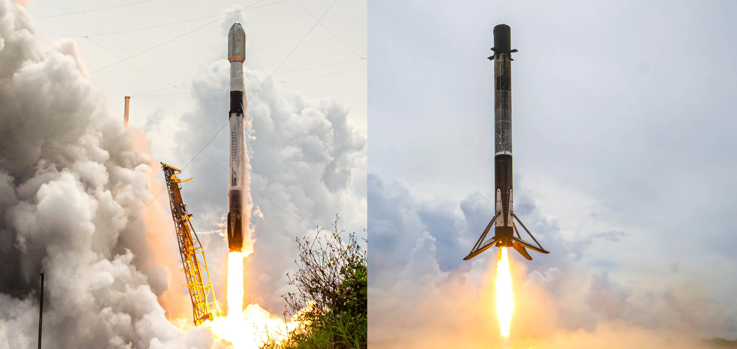 Transporter-2 F9 B1060 launch landing LC-40 LZ-1 063021 (Richard Angle – SpaceX) 1 (c)