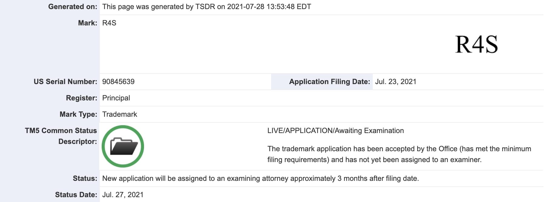 rivian-r4s-trademark-filing