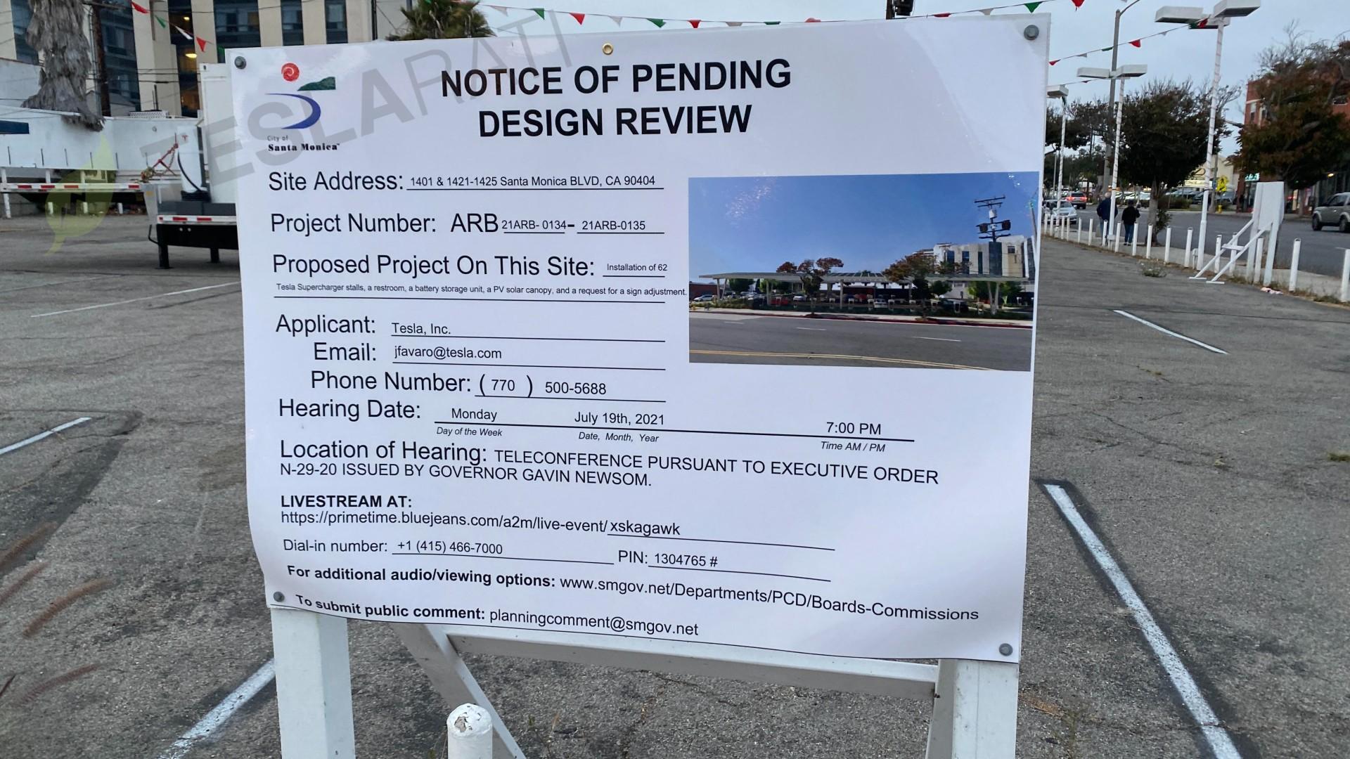tesla-santa-monica-supercharger-site-proposal-review-sign