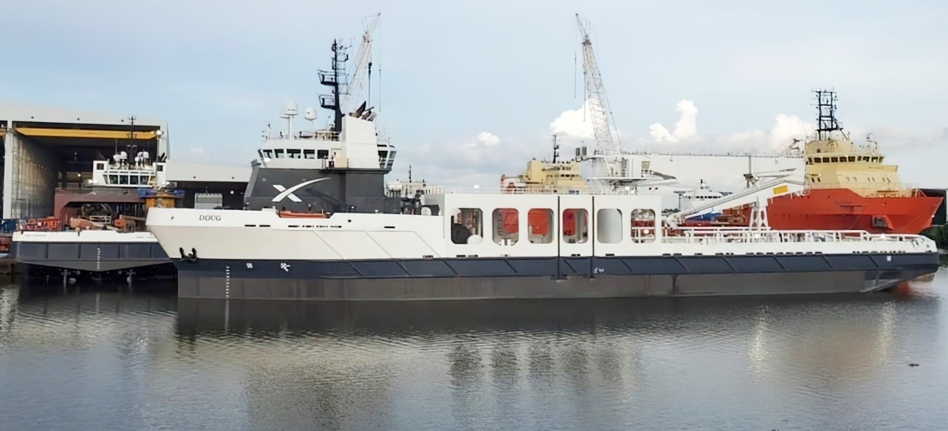 SpaceX Bob and Doug new rocket recovery ships (Facebook) 1 crop