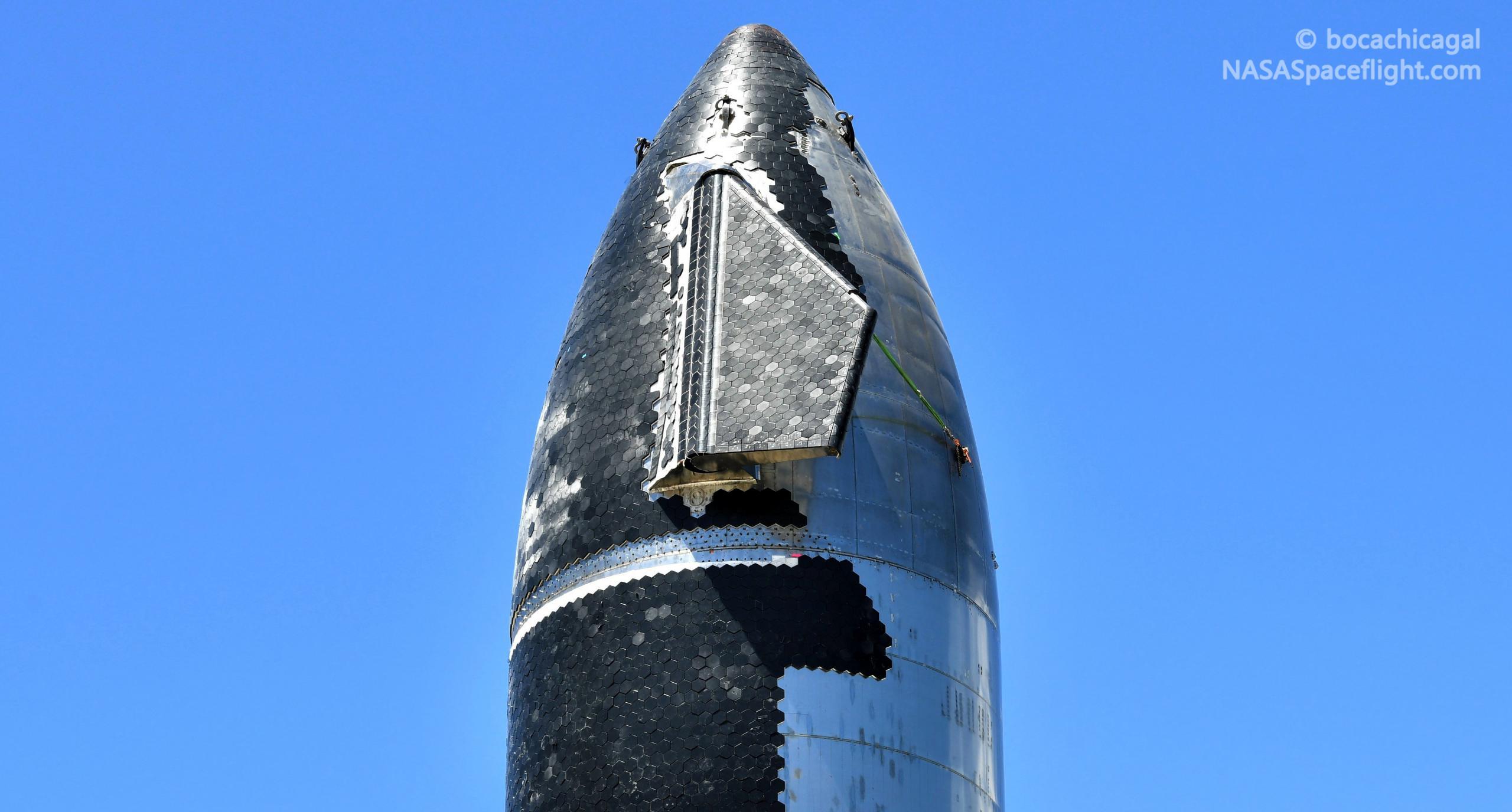 Starship Boca Chica 080521 (NASASpaceflight – bocachicagal) S20 rollout 4 crop (c)