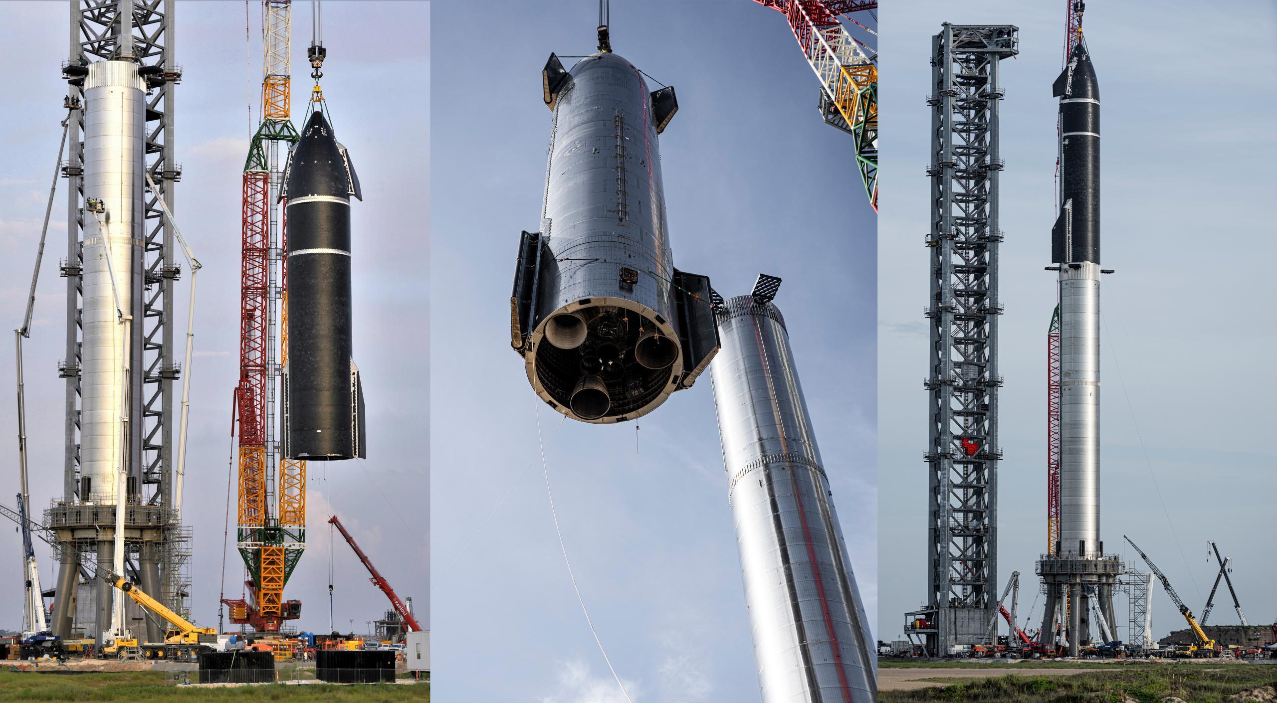 Starship Boca Chica 080621 (NASASpaceflight – bocachicagal + SpaceX) S20 B4 mate 1 (c)