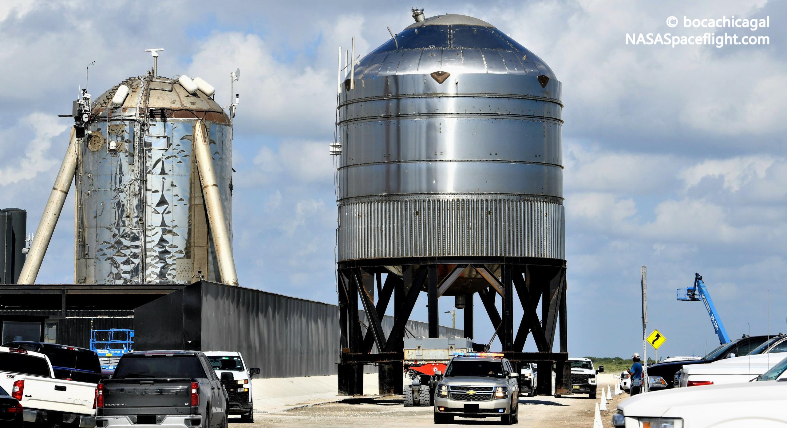 Starship Boca Chica 082321 (NASASpaceflight – bocachicagal) GSE4 test tank 2 crop (c)