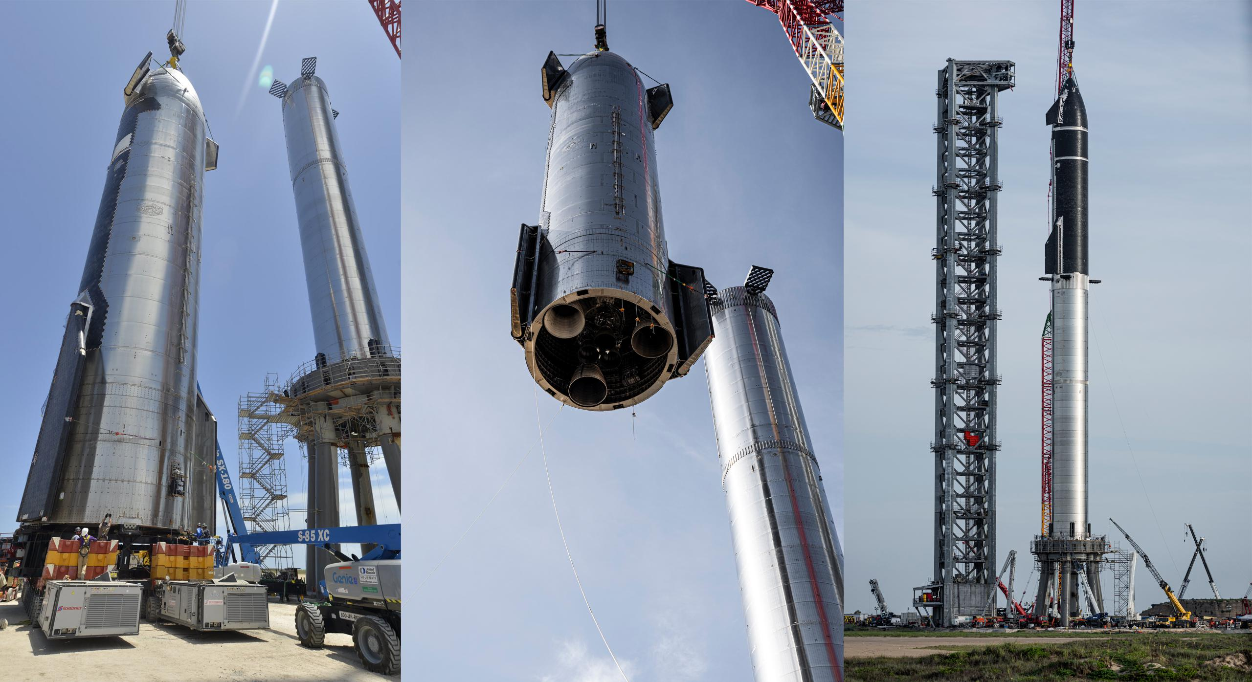 Super Heavy B4 Starship S20 fit check 080621 (SpaceX) panle 1 (c)