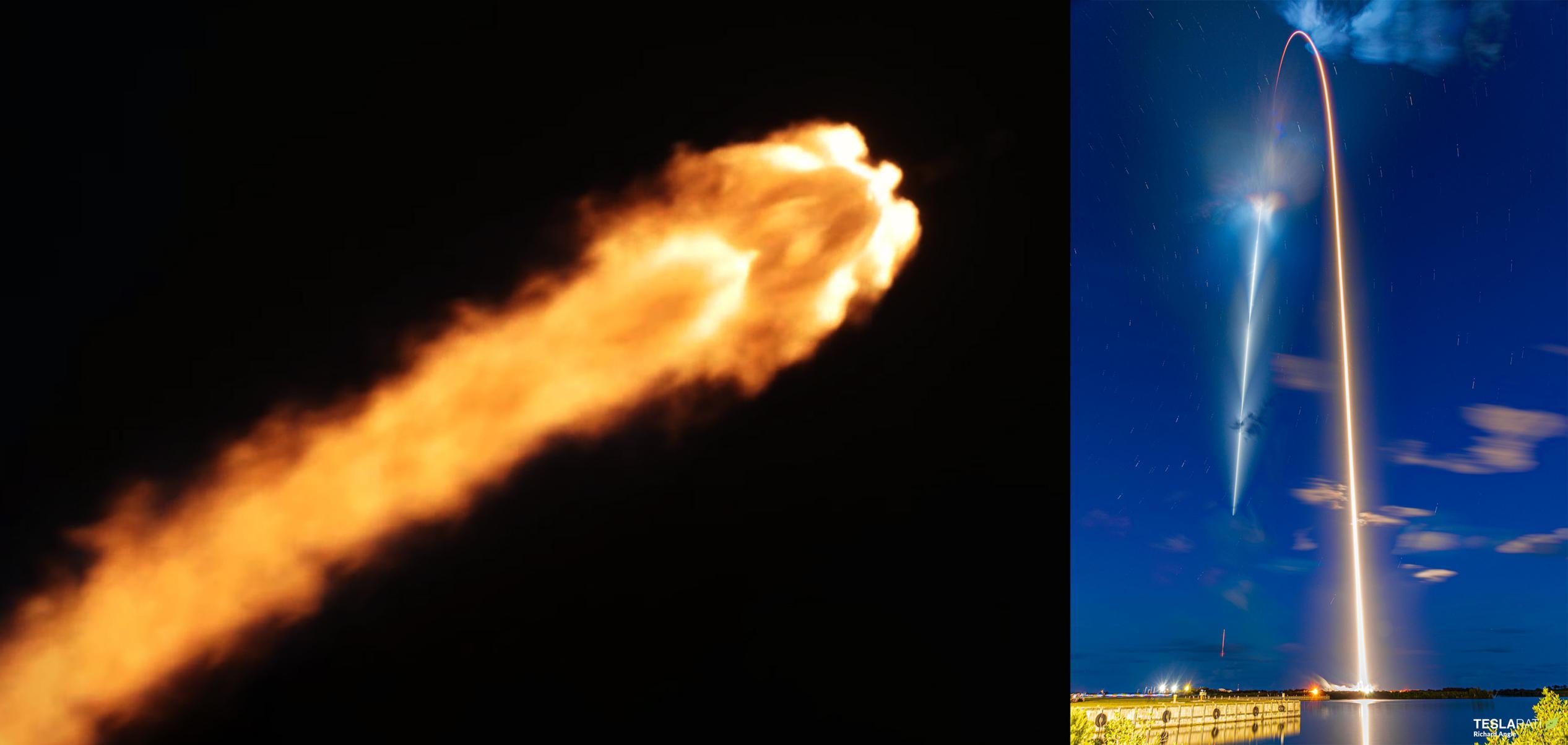 Inspiration4 Dragon C207 F9 B1062 091521 (SpaceX – Richard Angle) launch + streak 1 (c)