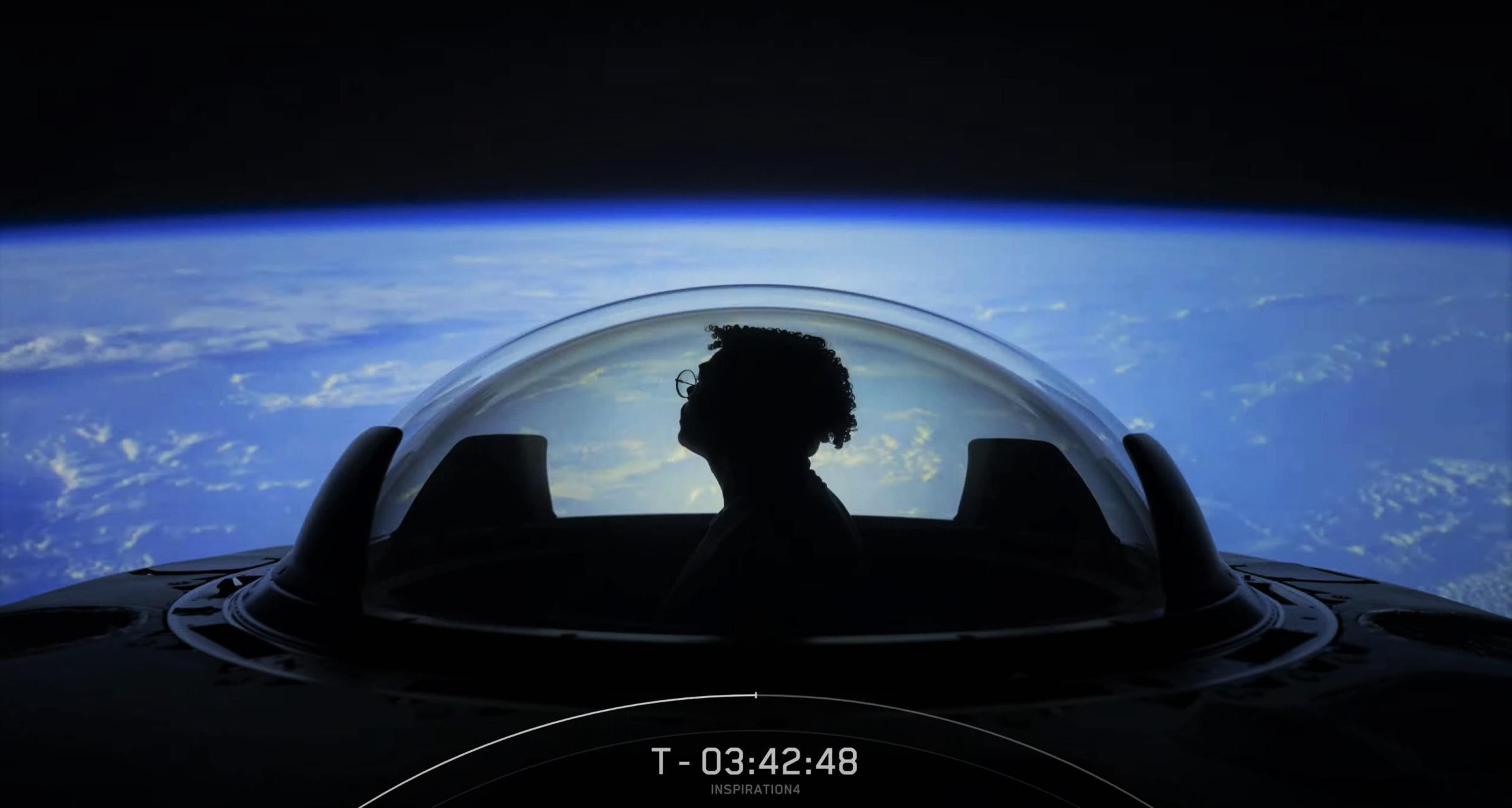 Inspiration4 Dragon C207 F9 B1062 091521 webcast (SpaceX) cupola 5 crop (c)
