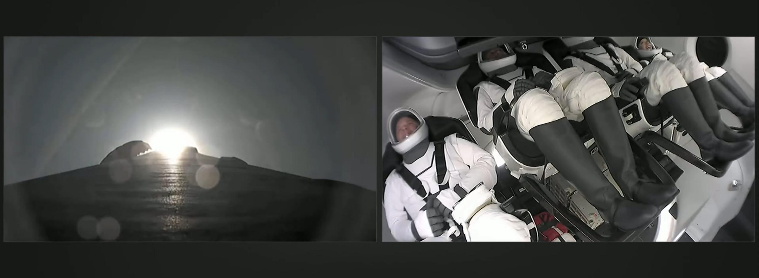 Inspiration4 Dragon C207 F9 B1062 091521 webcast (SpaceX) launch 1 (c)