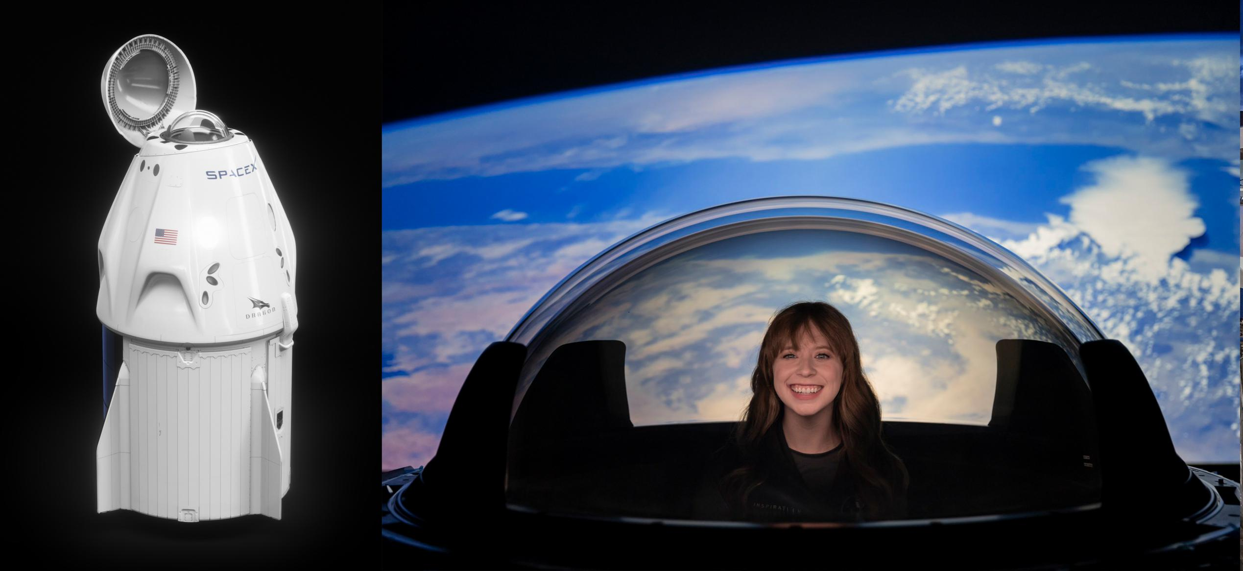 Inspiration4 Dragon cupola render (SpaceX) Haley Arceneaux 1 (c)