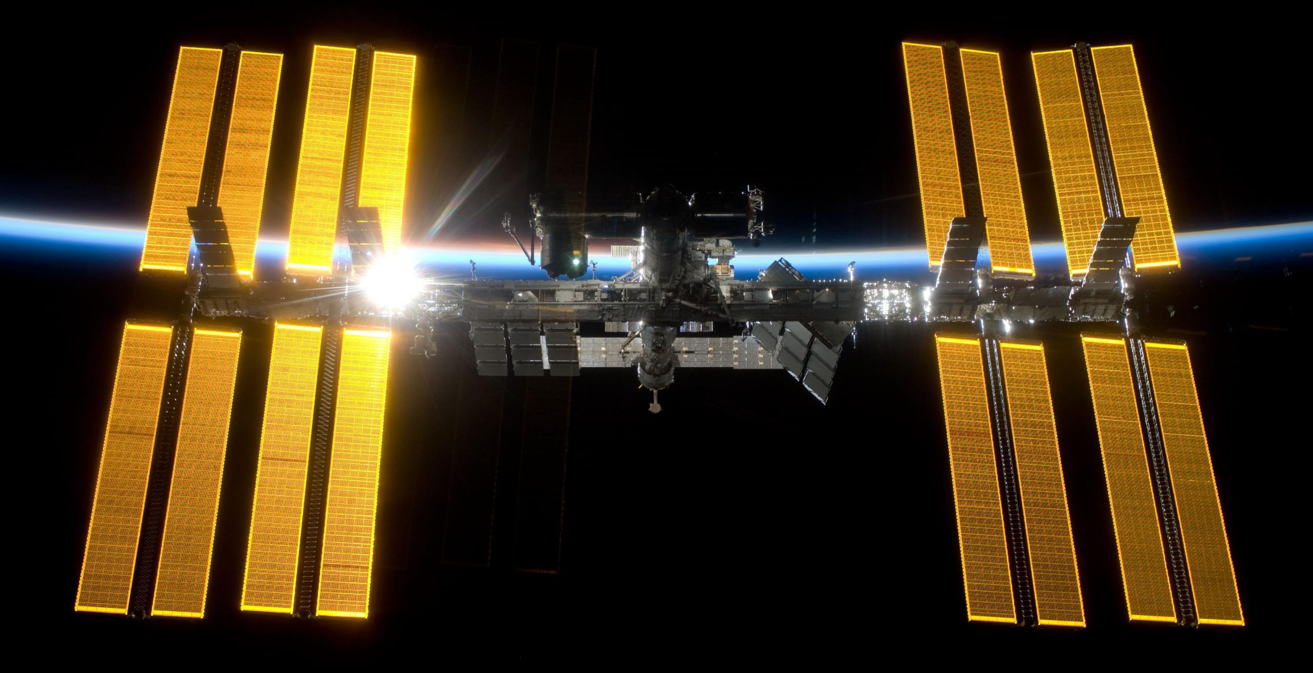 STS-119 2009 ISS flyaround (NASA) 2 crop (c)