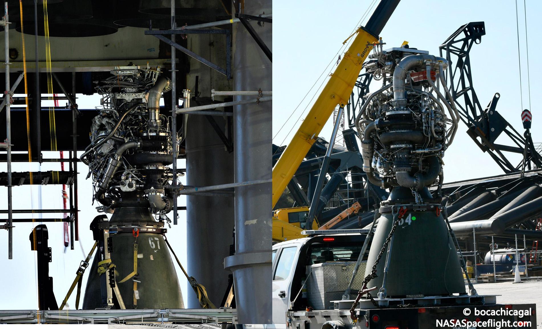 Starbase 091921 (NASASpaceflight – bocachicagal) B4 Raptor 67 64 replacement 1