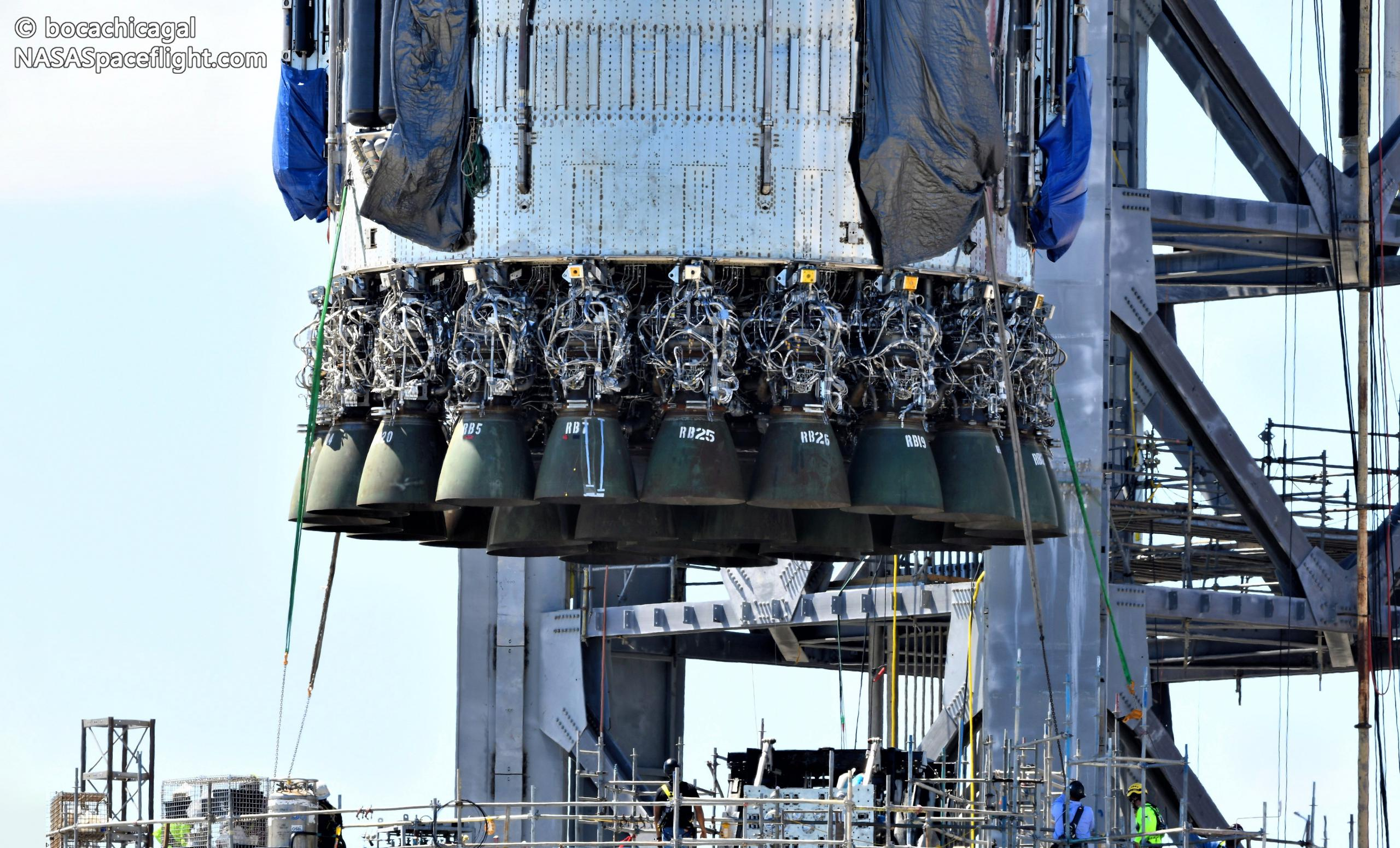 SpaceX moves Super Heavy booster to make room for Mechazilla arm installation