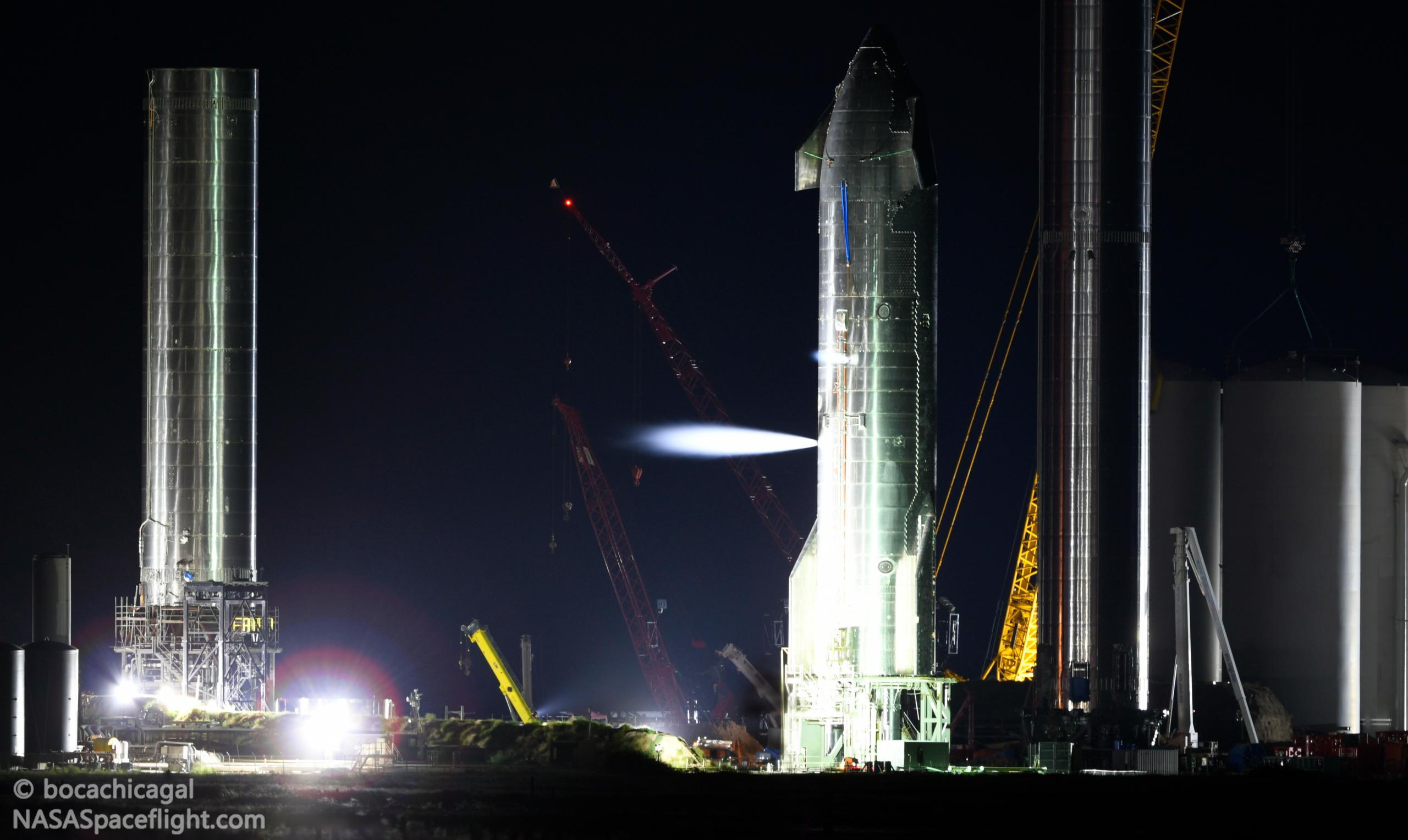Starbase 092721 (NASASpaceflight – bocachicagal) S20 testing + B4 B3 + vent 1 crop 2 (c)