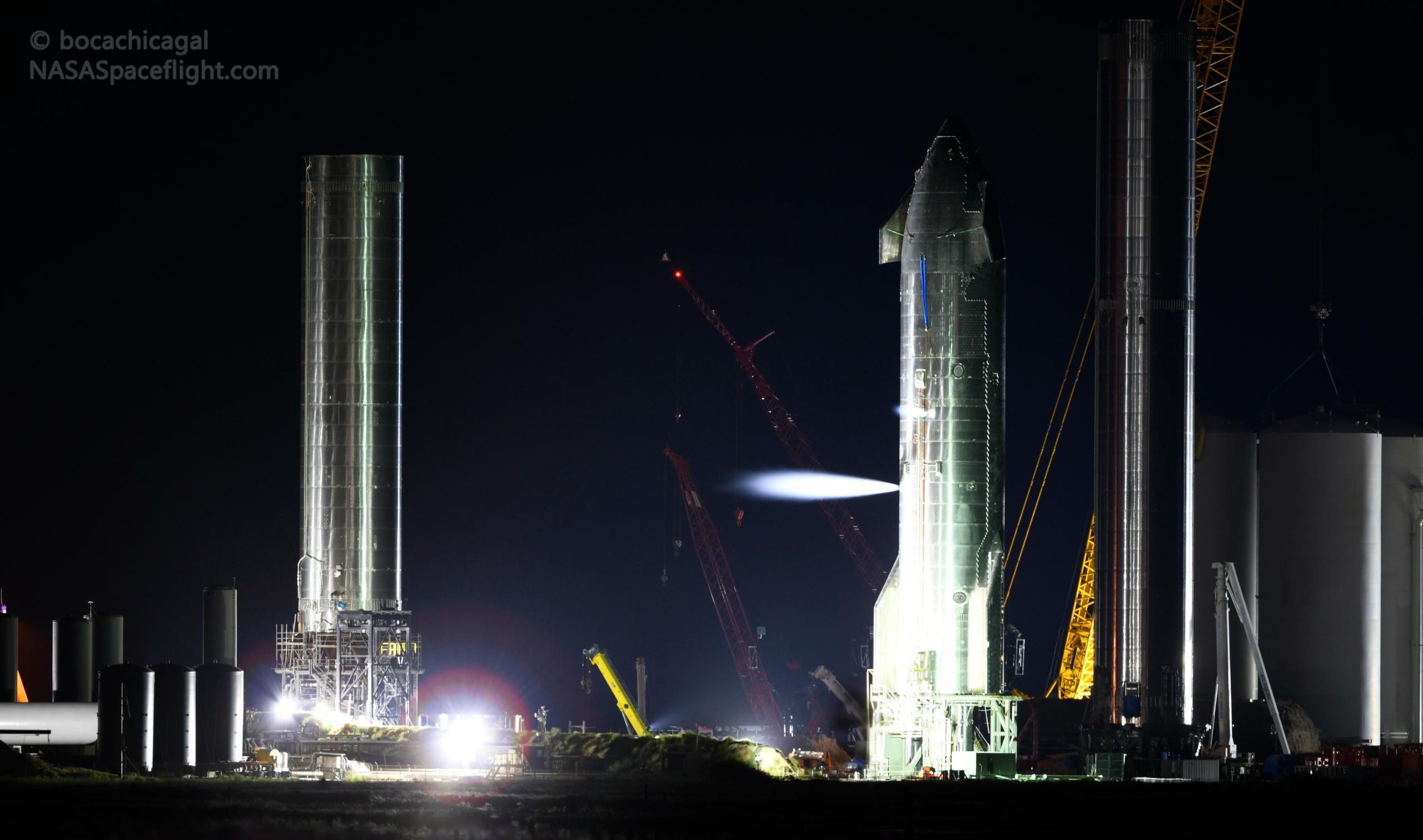 Starbase 092721 (NASASpaceflight – bocachicagal) S20 testing + B4 B3 + vent 1 crop (c)
