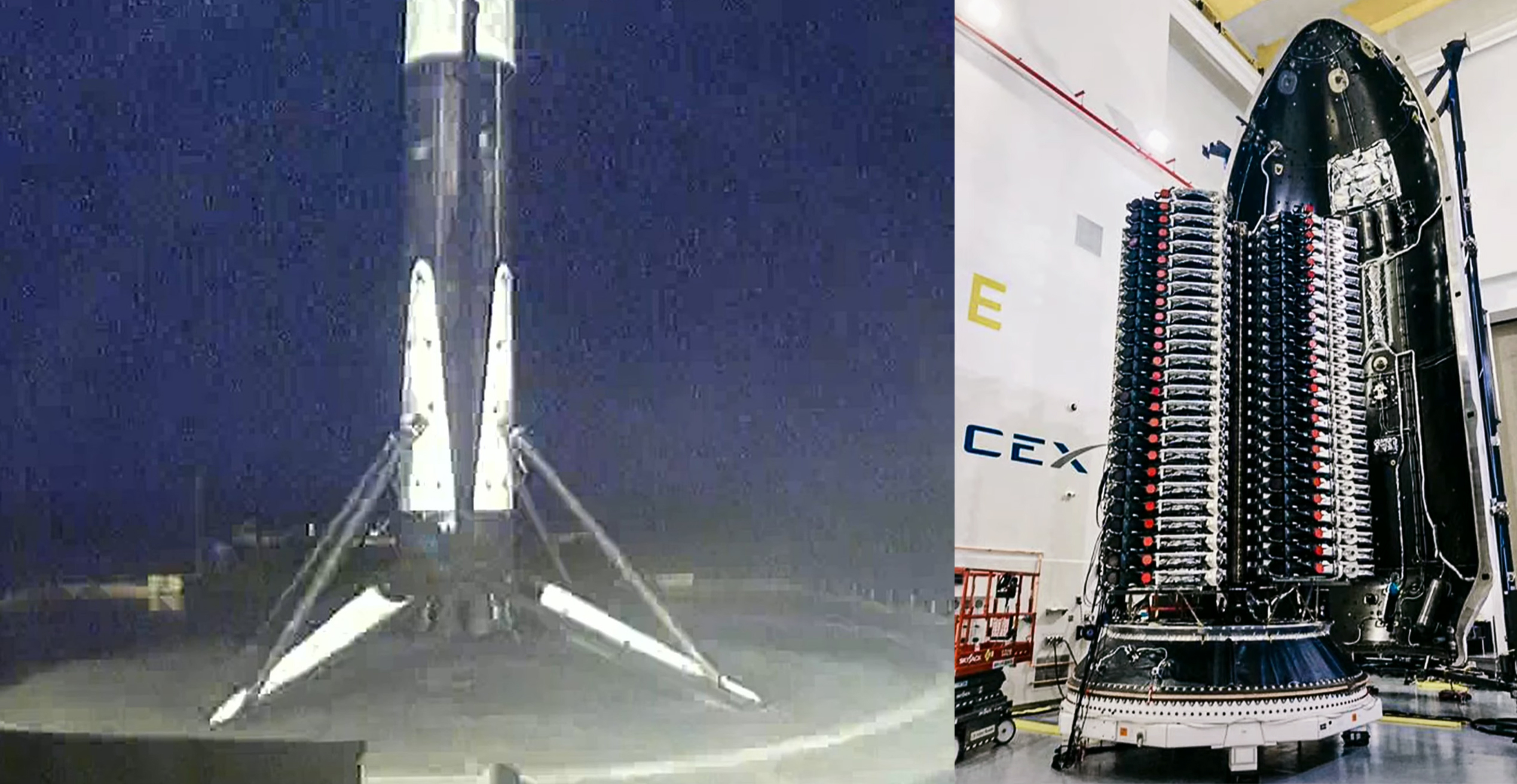 Starlink 2-1 V1.5 F9 B1049 091321 webcast (SpaceX) OCISLY landing + stack 1