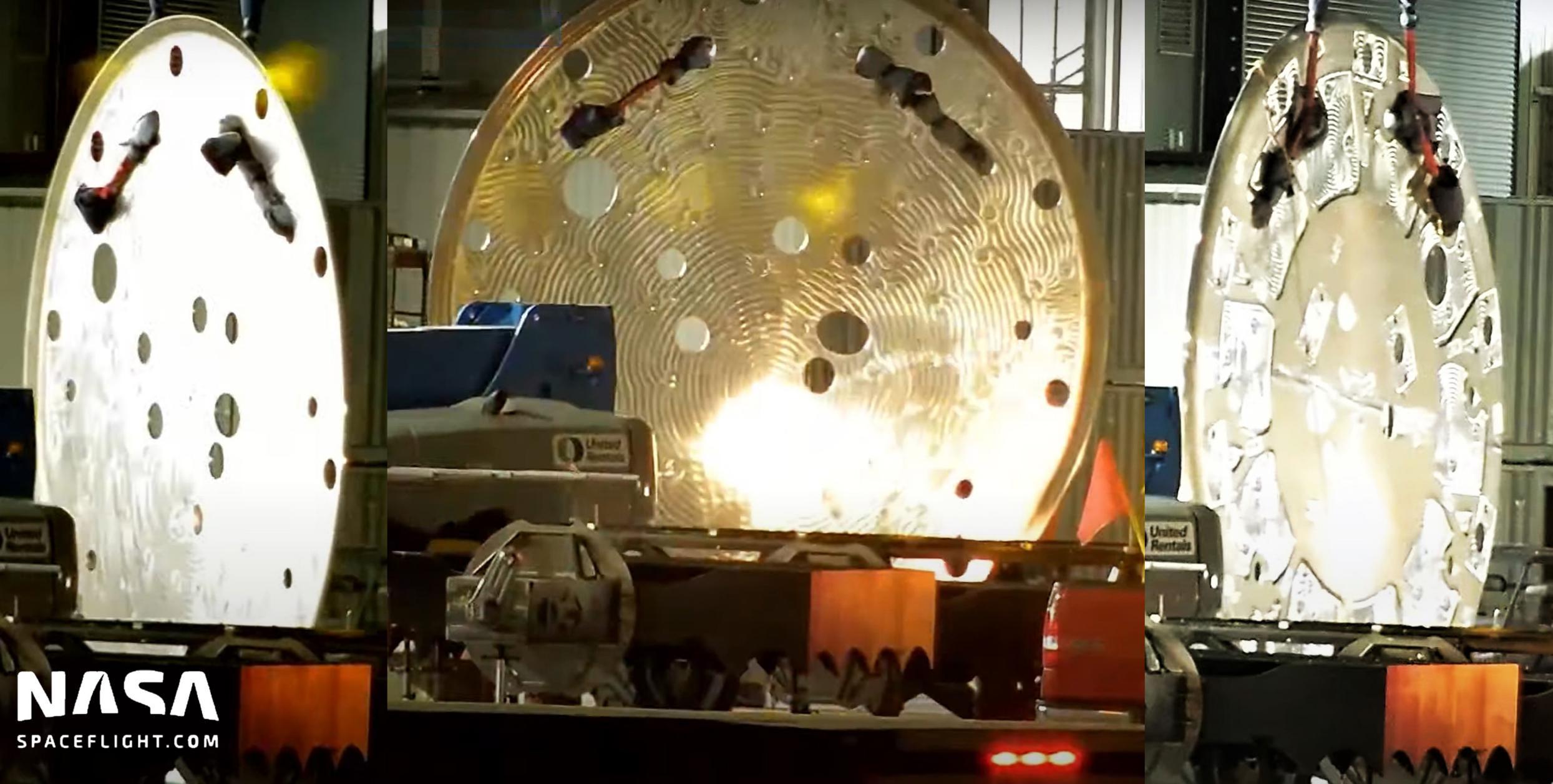 Starbase 100521 (NASASpaceflight) Super Heavy 13 engine thrust puck feature (c)