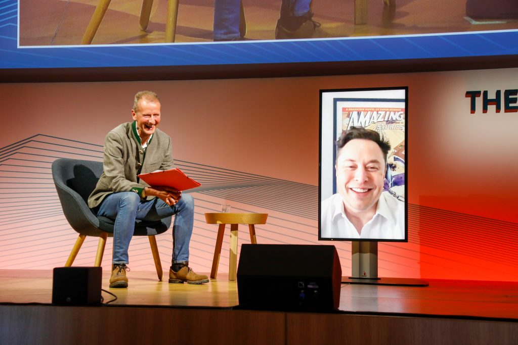 Tesla's Elon Musk makes surprise appearance at VW executive conference